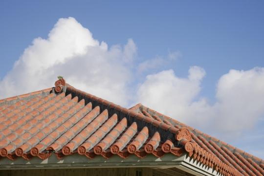漆喰の屋根